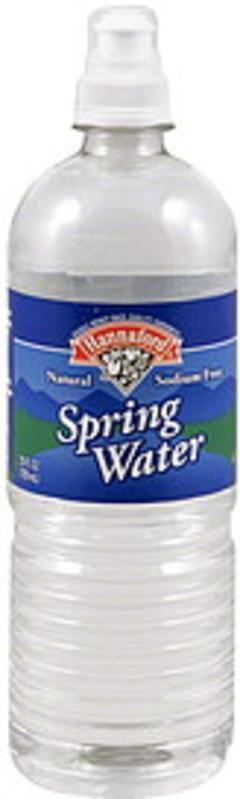 Hannaford Spring Water Natural, Sodium Free