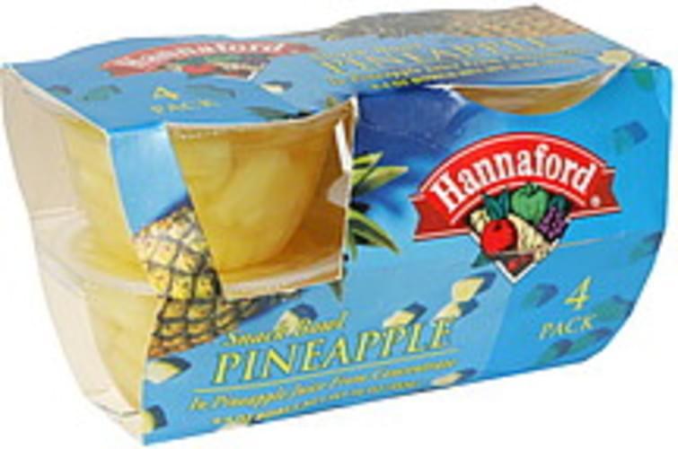 Hannaford Pineapple Snack Bowl - 4 ea