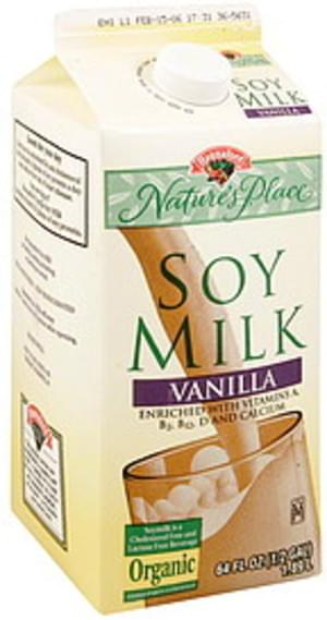 Hannaford Vanilla, 1% Milkfat Soy Milk - 64 oz