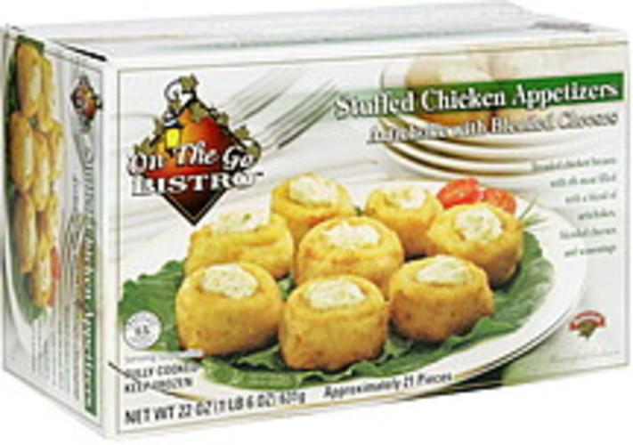 On the go Bistro Artichoke with Blended Cheeses Stuffed Chicken Appetizers - 22 oz