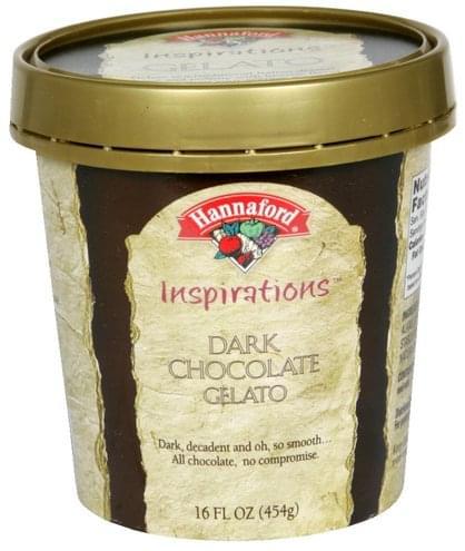 Hannaford Dark Chocolate Gelato - 16 oz