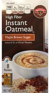 Hannaford Instant Oatmeal Maple Brown Sugar