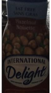 International Delight Coffee Whitener Hazelnut
