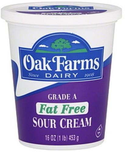 Oak Farms Fat Free Sour Cream - 16 oz