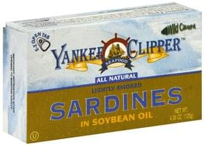 Yankee Clipper Sardines in Soybean Oil, Lightly Smoked