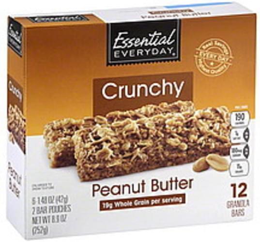 Essential Everyday Crunchy, Peanut Butter Granola Bars - 12