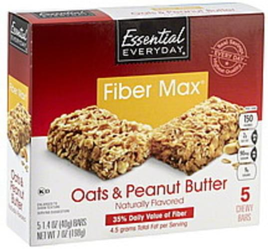 Essential Everyday Fiber Max, Oats & Peanut Butter Chewy Bars - 5 ea