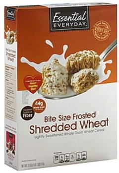 Essential Everyday Cereal Frosted Shredded Wheat, Bite Size