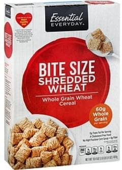 Essential Everyday Cereal Shredded Wheat, Bite Size