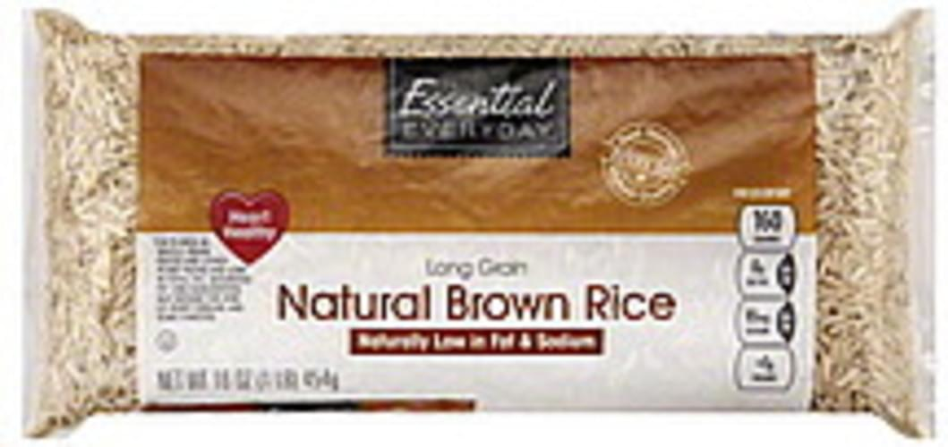 Essential Everyday Natural, Long Grain Brown Rice - 16 oz
