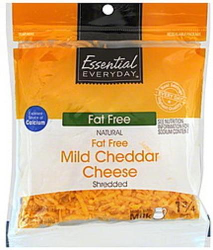Essential Everyday Mild Cheddar, Fat Free Shredded Cheese - 7 oz