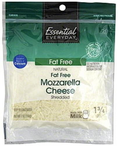 Essential Everyday Fat Free, Mozzarella Shredded Cheese - 7 oz