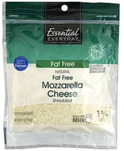 Essential Everyday Shredded Cheese Fat Free, Mozzarella