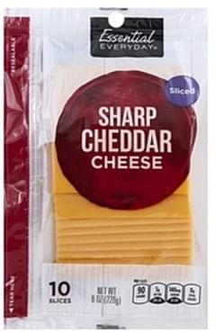 Essential Everyday Cheese Sharp Cheddar, Sliced