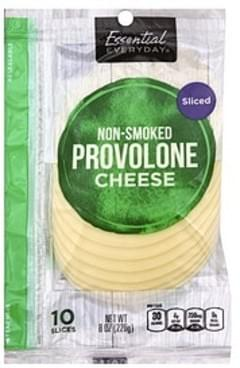 Essential Everyday Cheese provolone, Non-Smoked, Sliced