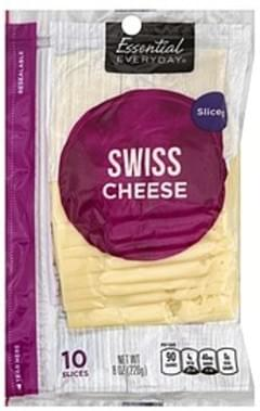 Essential Everyday Cheese Swiss, Sliced