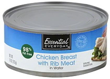 Essential Everyday Chicken Breast with Rib Meat, in Water