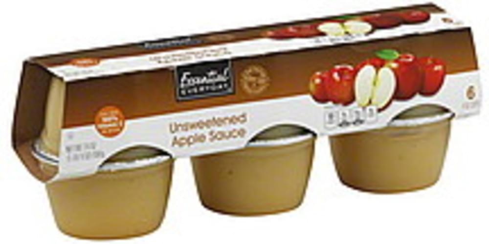 Essential Everyday Unsweetened Apple Sauce - 6 ea