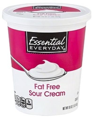 Essential Everyday Fat Free Sour Cream - 16 oz