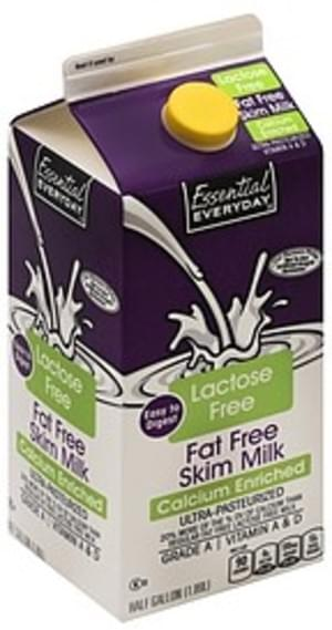 Essential Everyday Fat Free, Skim Milk - 0.5 gl