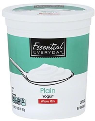 Essential Everyday Whole Milk, Plain Yogurt - 32 oz