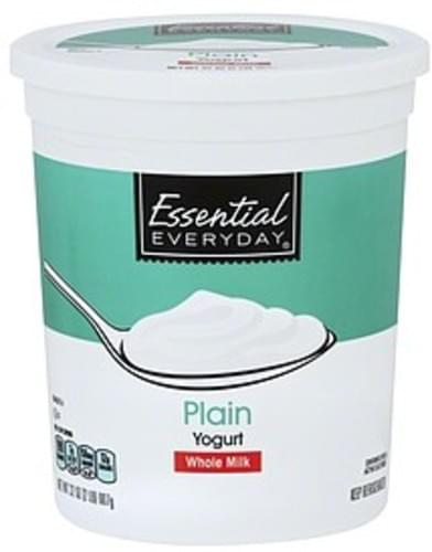 Essential Everyday Whole Milk, Plain Yogurt - 32 oz