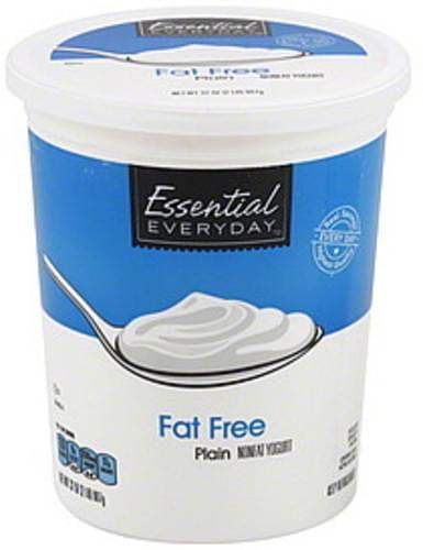 Essential Everyday Nonfat, Fat Free, Plain Yogurt - 32 oz