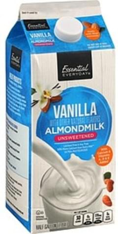Essential Everyday Almond Milk Unsweetened, Vanilla
