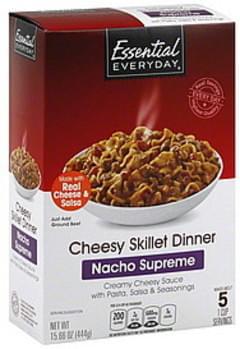 Essential Everyday Cheesy Skillet Dinner Nacho Supreme