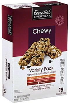 Essential Everyday Granola Bars Variety Pack, Chewy