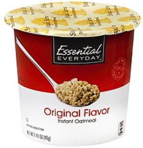 Essential Everyday Instant Oatmeal Original Flavor, Single Serve