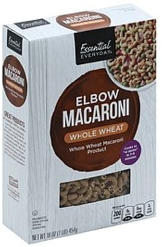 Essential Everyday Whole Wheat Elbow Macaroni - 16 oz