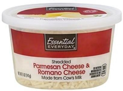 Essential Everyday Cheese Shredded, Parmesan & Romano
