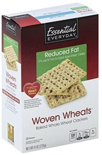 Essential Everyday Reduced Fat, Woven Wheats Crackers - 8 oz