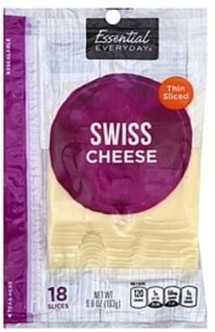 Essential Everyday Cheese Swiss, Thin Sliced