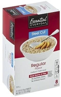 Essential Everyday Oatmeal Instant, Steel Cut, Regular Flavor