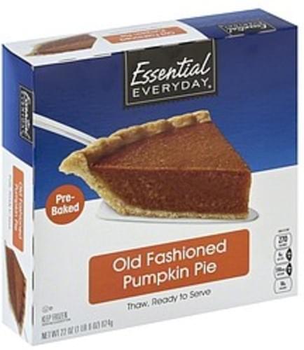 Essential Everyday Old Fashioned Pumpkin Pie - 22 oz