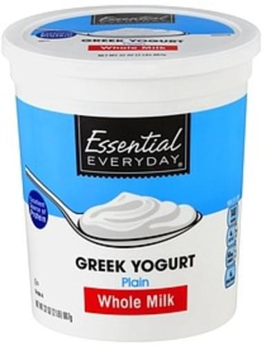 Essential Everyday Greek, Whole Milk, Plain Yogurt - 32 oz