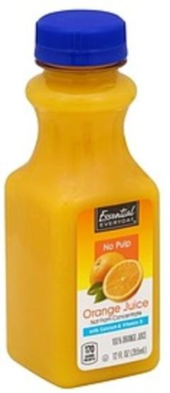 Essential Everyday 100% Juice Orange, No Pulp