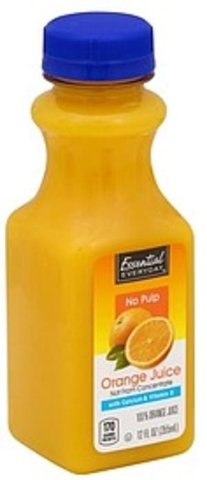 Essential Everyday Orange, No Pulp 100% Juice - 12 oz