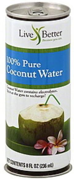 Live Better Coconut Water 100% Pure