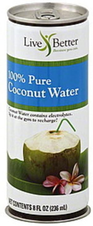 Live Better 100% Pure Coconut Water - 8 oz