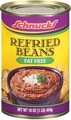 Schnucks Beans Refried Fat Free