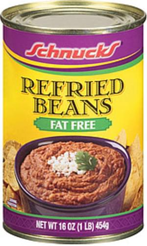 Schnucks Fat Free Beans Refried - 16 oz