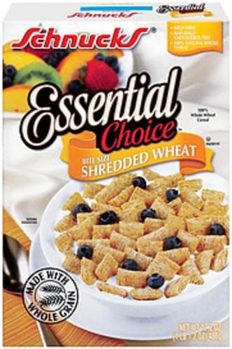 Schnucks Essential Choice Shredded Wheat Bite Size Cereal - 17.2 oz