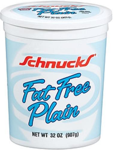 Schnucks Plain Fat Free Yogurt - 32 oz