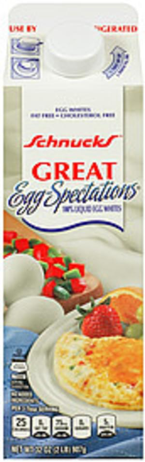 Schnucks Great Egg-Spectations 100% Liquid Egg Whites Egg Product - 32 oz