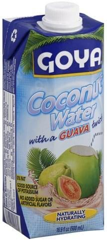 Goya with a Guava Twist Coconut Water - 16.9 oz