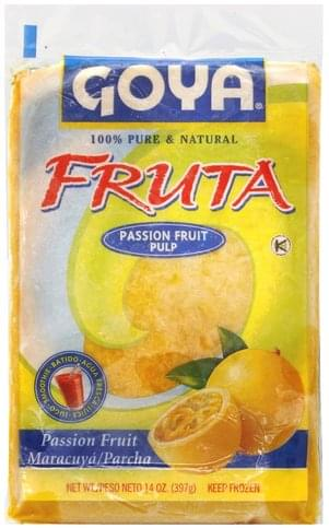 Goya Passion Fruit Pulp Fruta - 14 oz