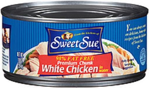 Sweet Sue White Chicken Premium Chunk In Water